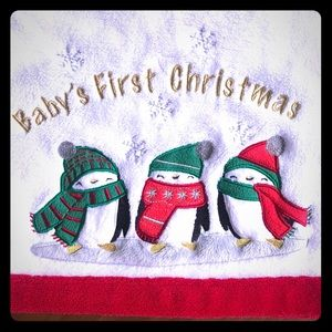 Baby's First Christmas Fleece Blanket
